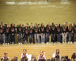 Neighbors | Abby Slanker.The Canfield Village Middle School seventh-grade girls basketball team was introduced at the school's annual Winter Sports Pep Assembly on Jan. 26.