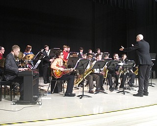 Neighbors | Zack Shively.The two high school jazz bands performed to close the night out. Both bands practice before or after school, as the school does not offer a jazz class.