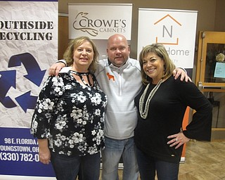 Neighbors | Zack Shively.The Chili Open Derby featured horse racing, food, drinks and an auction for a full room. Pictured are, from left, Shellie Duchek, Dan Dull and Mary Ann Carano. Carano and Dull cochaired the event.