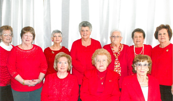 Youngstown Saxon Club Branch 22 recently installed officers for 2018. Above, front row from left, are June Hoelzel, president; Helen Fotiuk, first vice president; and Rosemarie Kascher, second vice president. Standing in the back row are Lucy Secka, treasurer; Cynthia Blubaugh, secretary; Rosemary Dundon, second trustee; Gloria Hahn, first trustee; Diana Kommel, assistant financial secretary; Betty Garhammer, financial secretary; and Julaine Gilmartin, A.T.S. secretary.