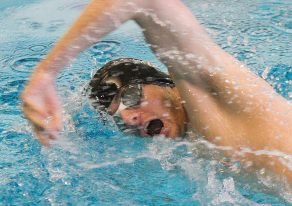 William D Lewis the Vindicator   Boardman relay swimmer Kyle Kimerer swims freestyle.
