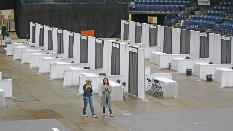 ROBERT K. YOSAY | THE VINDICATOR The free Valley Health & Wellness Expo takes place from 10 a.m. to 5 p.m. Saturday and noon to 4 p.m. Sunday at the Covelli Centre in Youngstown.