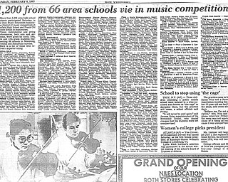 Original Vindicator clipping from Sunday, February 8, 1987...Photo on page by William D. Lewis, The Vindicator..