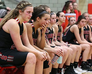 STRUTHERS, OHIO - MARCH 3, 2018:  Salem Quakers sadden to finish D3 runnerup at Struthers High School, Struthers' Fieldhouse.  MICHAEL G. TAYLOR | THE VINDICATOR