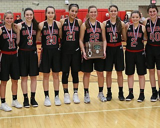 STRUTHERS, OHIO - MARCH 3, 2018:  Salem Quakers runnerup D3 at Struthers High School, Struthers' Fieldhouse.  MICHAEL G. TAYLOR | THE VINDICATOR