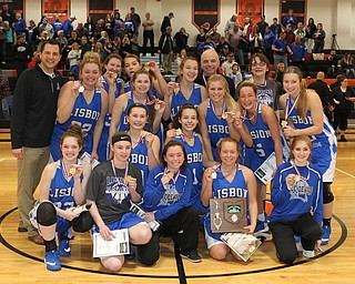 The Lisbon Blue Devils defeated Valley Christian on Saturday afternoon to become division champions at Mineral Ridge.   Dustin Livesay  |  The Vindicator  3/3/18  Mineral Ridge.