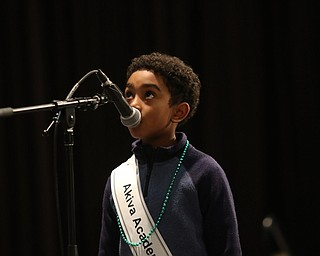 ROBERT  K. YOSAY | THE VINDICATOR..The 85th Spellling Bee at YSU and Kilcawley Center - 44 spellers came  down to  Mackenzie Sambroak 5th grader from Roosevelt Elementary in McDonald...Akiva Academy - Anan Sati econd grade (ok)