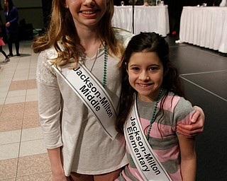 ROBERT  K. YOSAY | THE VINDICATOR..The 85th Spellling Bee at YSU and Kilcawley Center - 44 spellers came  down to  Mackenzie Sambroak 5th grader from Roosevelt Elementary in McDonald...SISTErS Jackson Milton Middle and Elementary  is Kate and Kristen Campbell