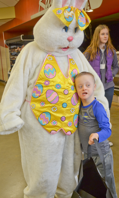 Seth Baker, age 8, was happy to see the Easter Bunny at Rulli Brothers in Boardman on March 18, 2018.  Seth attended with his mother Christine Baker, of Boardman.