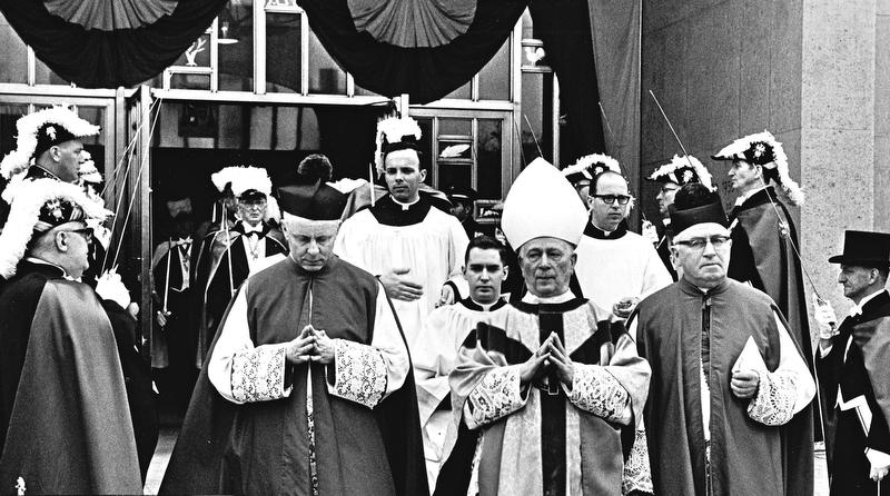 Bishop Walsh funeral March 23, 1968.