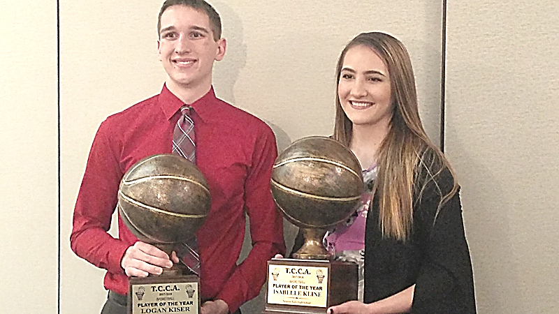 LaBrae's Logan Kiser was named the Trumbull County Coaches Association's boys basketball Player of the Year  and Newton Falls' Izzy Kline received the award for the girls. The awards were announced Leo's Ristorante in Howland on Monday night.