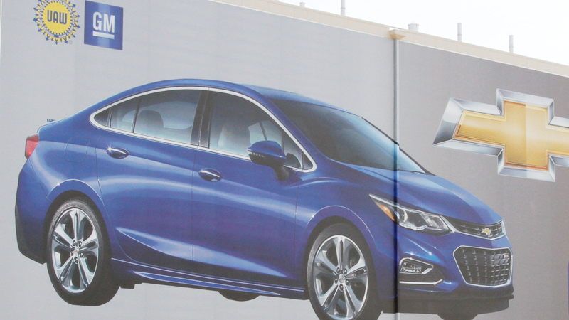 Although General Motors had a 16 percent year-over-year sales increase in March, sales of the locally made Chevrolet Cruze was down for the 11th straight month.