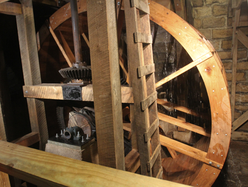 William D. Lewis the Vindicator   newly restored waterwheel at Lantermans Mill.  ribbon cutting ceremony was held 4-6-18.