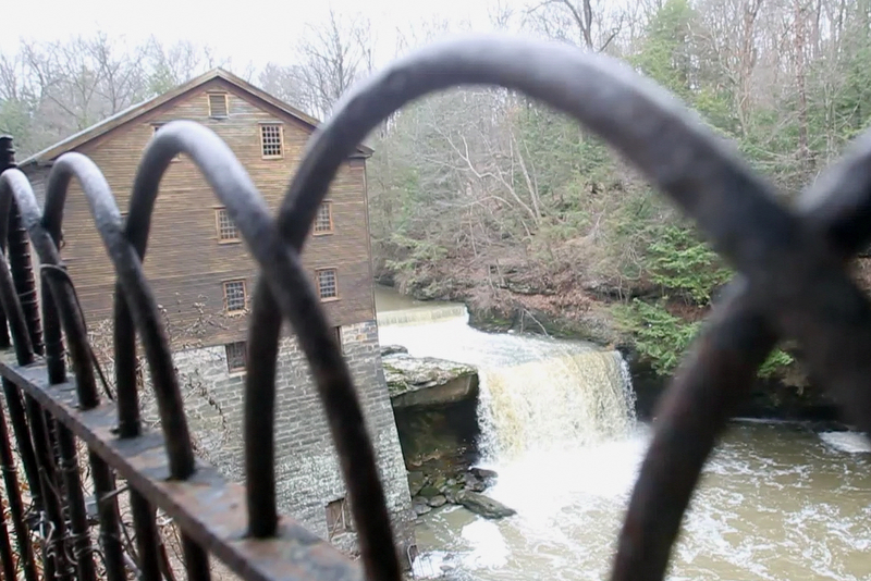 William D. Lewis the Vindicator   The waterwheel at Lantermans Mill was recently restroed.  ribbon cutting ceremony was held 4-6-18.