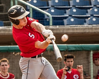 Girard's Nick Malito hits an inside-the-park home run during their 10-1 victory against Liberty Friday night at Eastwood Field.