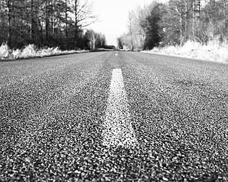 "Elaine Manusakis, ""Road Less Traveled."""