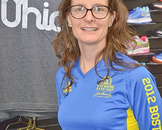 Amanda McNinch, from Boardman, is competing in the 122nd Boston Marathon on Monday, April 16, 2018.
