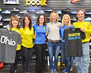 "From Ohio to ""Baastin,"" these six local runners are competing in the 122nd Boston Marathon on Monday, April 16, 2018.  From left to right, they are: Sandy Manley, from Boardman; Christine Russo, from Canfield; Amanda McNinch, from Boardman; Becky Rudzik, from Poland; Kathy Boyarko, from Boardman; and Robert Vogt, from Salem.