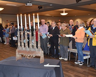 About 100 people, many of which were 2nd generation Holocaust survivors, gathered for a Shoah Memorial Ceremony held at the Jewish Community Center on Sunday, April 15, 2018.  The six candles represent the six million who were lost during the Holocaust.