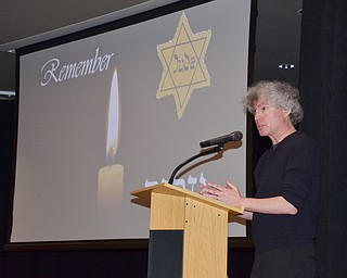 "Dr. Jonathan Friedman addressed the Jewish Community Center, speaking about ""Holocaust and Genocide Education in the Service of Human Rights: The Legacy of Saul S. Friedman"" at a Shoah Memorial Ceremony on Sunday, April 15, 2018.