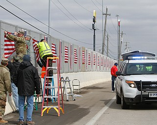 Flags installed on I-80 and 46