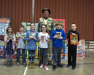 """Neighbors   Zack Shively.Tim Smith, author of the """"Buck Wilder"""" series of children's books, visited Dobbins Elementary on March 19. He spoke to the students about being an author and trying new things."""