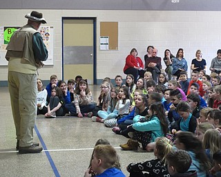 Neighbors   Zack Shively.Children's author Tim Smith spoke to the elementary students about following their passions, trying hard and making mistakes. He joked with the students throughout he performance to keep them engaged and interested.