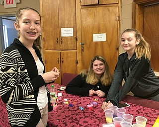 Neighbors   Submitted .Columbiana Scout Troop 80191 Cadettes Brileigh Kocanjer, Chelsee Chaffee and Alyson Smith volunteered to help lead small groups during Start With Hello Project anti-bullying exercises in which three area Girl Scout Troops took part.