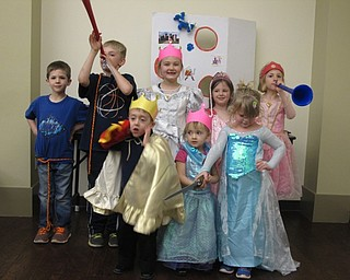 """Neighbors   Zack Shively.Children attended the Boardman library's """"It's a Royal Affair"""" program on April 12 dressed as princes and princesses. The program included stories and games with a medieval theme."""
