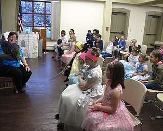 """Neighbors   Zack Shively.Boardman librarian Karen Saunders organized the """"It's a Royal Affair"""" program. She began the event with a story time. Pictured, she read """"The Prince Won't Go To Bed"""" by Dayle Ann Dodds."""