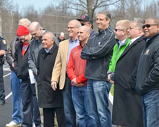 An array of state and local officials were in attendance of a rally to keep TJX in the Mahoning Valley on Sunday, April 29, 2018 at the Lordstown High School track.  