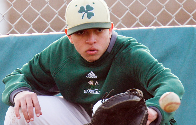 Ursuline sophomore Hector Rosa, who lived in Puerto Rico when hurricanes Irma and Maria devastated the island last September, is now a catcher with the Irish varsity baseball team.