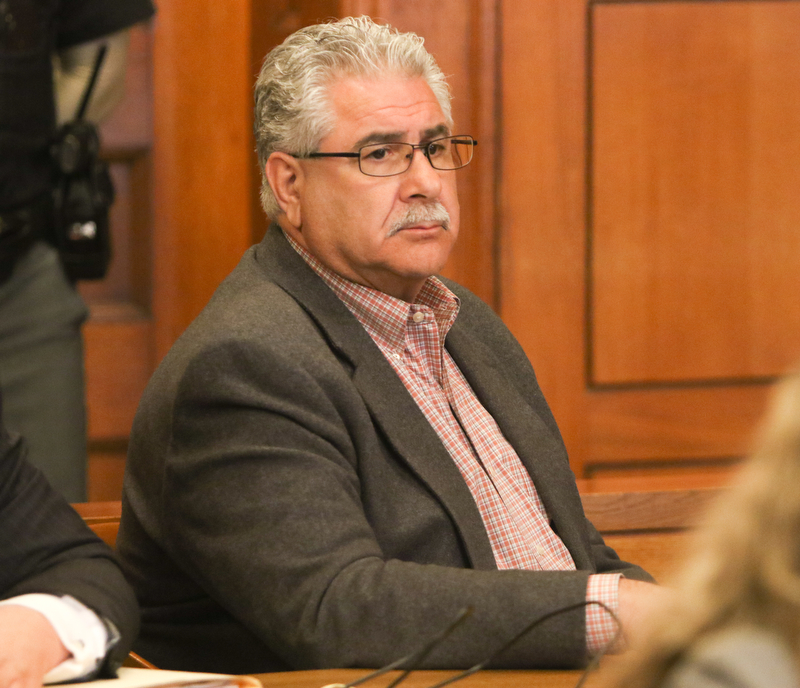 ROBERT K.YOSAY  | THE VINDICATOR..stoic and no reaction.... The jury in the Ralph Infante corruption trial have found the former Niles mayor guilty of 22 of the 32 charges he faced, including the most serious charge, engaging in a pattern of corrupt activity...Infante, 62, did not appear to show any reaction to the verdicts. Sentencing is set for 10 a.m. Friday.....-30-