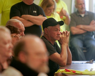 William D. Lewis The VindicatorLarge crowd on hand during a zoning meeting at the Lordstown Administration building Tuesday.
