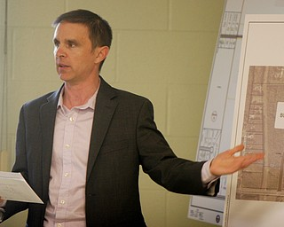 William D. Lewis The Vindicator Ryan Bush of MS Consultants speaks during a zoning meeting at the Lordstown Administration building Tuesday.