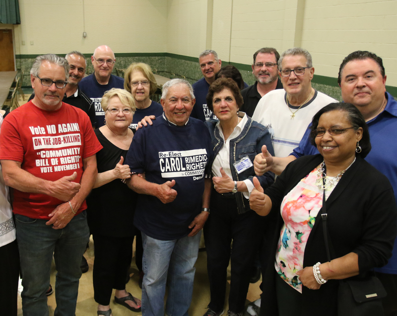 ROBERT K.YOSAY  | THE VINDICATOR..Carol Rimedio Righetti  and her family and friends celebrate her victory at St Lukes  banquet hall in boardma.....-30-