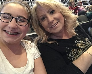 Paige Christman and her mother, both go to school in Boardman where  Paige is in eighth grade and her mother teaches fourth grade.