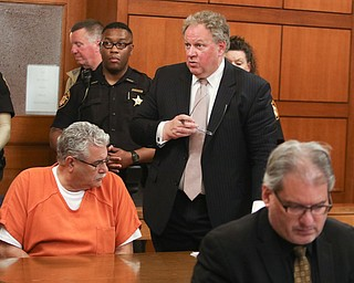 ROBERT K.YOSAY  | THE VINDICATOR..WARREN Ñ The Niles corruption investigation that the public learned about with a raid at the mayorÕs office at City Hall in October 2014 reached its climax today with Ralph Infante being sentenced to 10 years in prison for engaging in a pattern of corrupt activity and 21 other crimes.....-30-