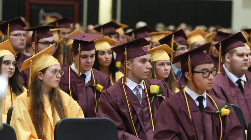 ROBERT K YOSAY  | THE VINDICATOR..South Range Class of 2018Õs , High School Principal Stephen P. Rohan described its 120 graduates a Òone of a kind class.Ó....-30-