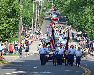 Main Street in Poland was lined by residence who came out to see the Memorial Day Parade on Monday morning. Dustin Livesay  |  The Vindicator  5/28/18 Poland