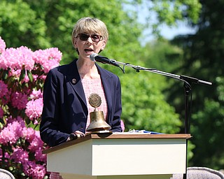 Ohio Supreme Court Justice Mary DeGenaro is the keynote speaker of Monday afternoons Memorial Day ceremony at the Riverside Cemetary in Poland. Dustin Livesay  |  The Vindicator  5/28/18 Poland