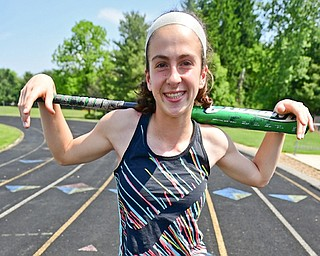 Poland's Jackie Grisdale had to balance softball and track district tournaments this spring. She qualified for state in the 800.