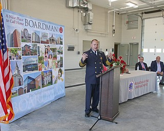 ROBERT K YOSAY  | THE VINDICATOR..Boardman newest firestation #71 on Market Street next to Stadium Drive ..Chief Mark Pitzer. thanks everyone involved in bringing the new  fire house to boardman..-30-
