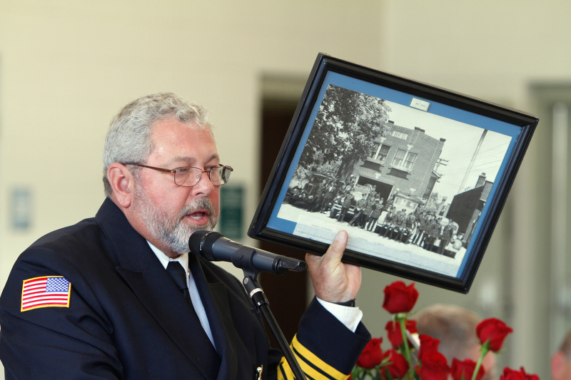 ROBERT K YOSAY  | THE VINDICATOR..Boardman newest firestation #71 on Market Street next to Stadium Drive ..Chief Jim Dorman shows off the FIRST firestation and talks about the history of the department.-30-