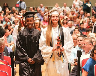 ROBERT K YOSAY  | THE VINDICATOR..Howland Graduation...  at Packard Music Hall in Warren Class of 2018.And here they come as VP of the class Brian Ringold and President Gabby Hartzell lead the class.-30-