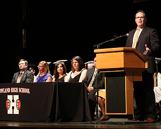 ROBERT K YOSAY  | THE VINDICATOR..Howland Graduation...  at Packard Music Hall in Warren Class of 2018..School board prize  Dr Kenneth Jones..-30-