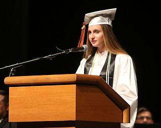 ROBERT K YOSAY  | THE VINDICATOR..Howland Graduation...  at Packard Music Hall in Warren Class of 2018..valedictorian Gabrielle Hartzell-30-