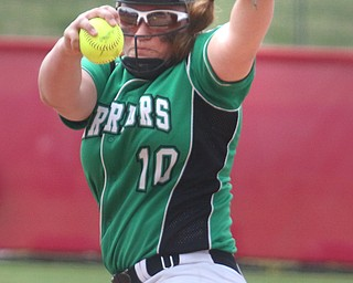 ROBERT K YOSAY  | THE VINDICATOR..West Branch Warriors - defeated Jonathan Alder Pioneers  - 5-4 where the lead changed hands several times ..Kelsey Byers.. pitcher.-30-