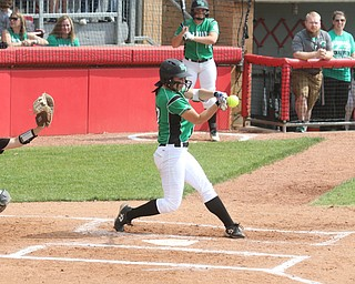 ROBERT K YOSAY  | THE VINDICATOR..West Branch Warriors - defeated Jonathan Alder Pioneers  - 5-4 where the lead changed hands several times .#17...Kylie Coffelt .....  Connect  hit HOME RUN that put WB up for the game -30-
