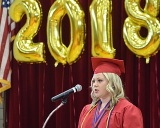 William D. Leiws The Vindicator   Campbell 2018 class president and a valedictorian speaks during 5-31-18 commencement at Campbell HS.